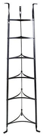 6 Tier Cookware Stand Hammered Steel - Pot Racks Plus