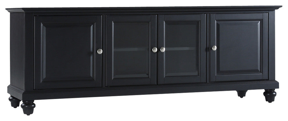 "Cambridge 60"" Low Profile TV Stand, Black Finish - Pot Racks Plus"
