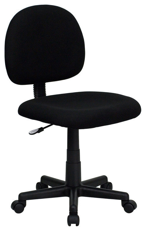 Mid-Back Black Fabric Swivel Task Office Chair
