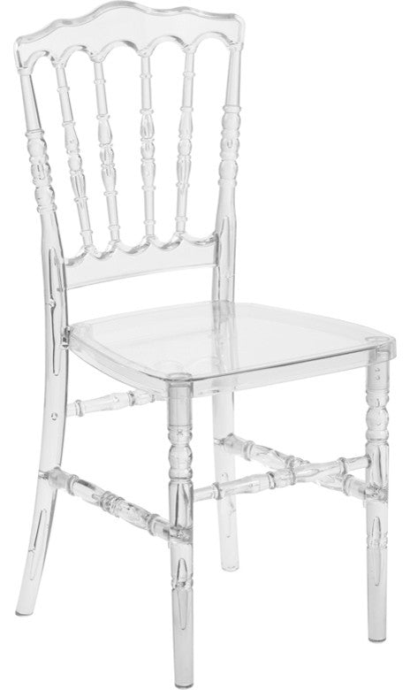 Flash Elegance Crystal Ice Napoleon Stacking Chair