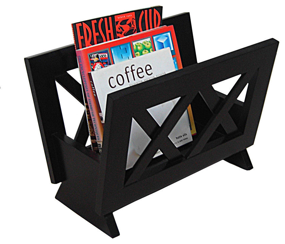 Mahogany Solid Wood Magazine Rack - Pot Racks Plus