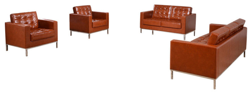 HERCULES Lacey Series Reception Set in Cognac LeatherSoft