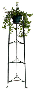 4 Tier Plant Stand Hammered Steel - Pot Racks Plus