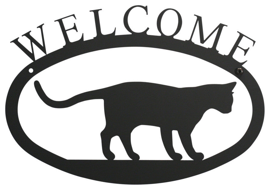 Welcome Sign, Small, Cat at Play