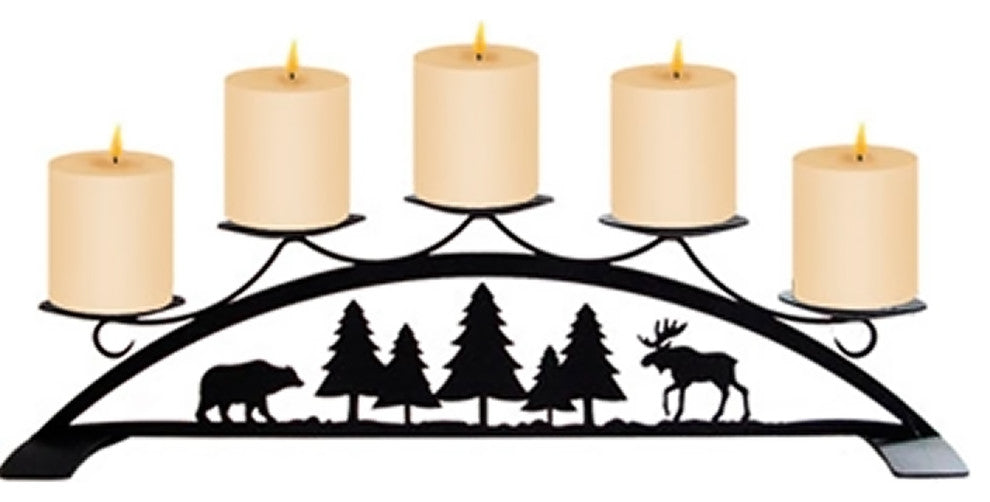Moose And Bear, Table Top Pillar Candle Holder
