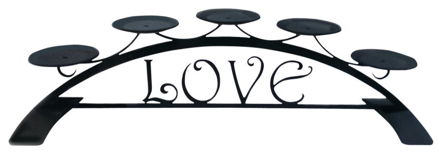 Love, Table Top Pillar Candle Holder