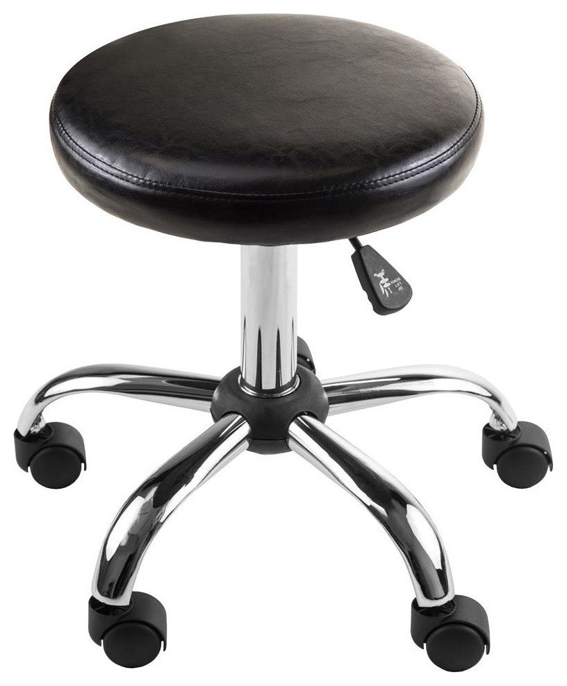 Clark Round Cushion Swivel Stool With Adjustable Height - Pot Racks Plus