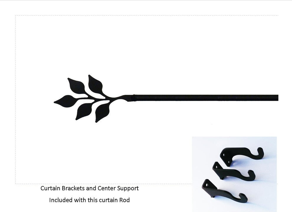 Leaf Curtain Rod, Extra Large - Pot Racks Plus