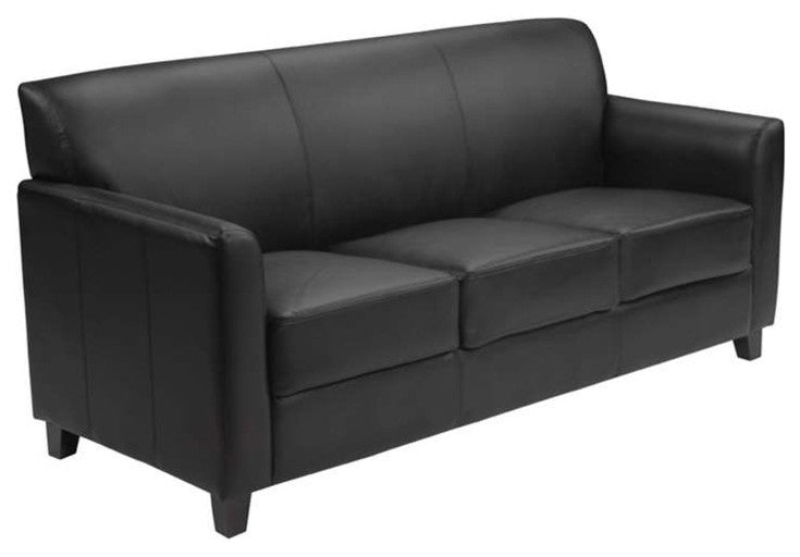 HERCULES Diplomat Series Black LeatherSoft Sofa