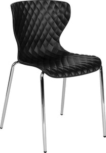 Lowell Contemporary Design Black Plastic Stack Chair