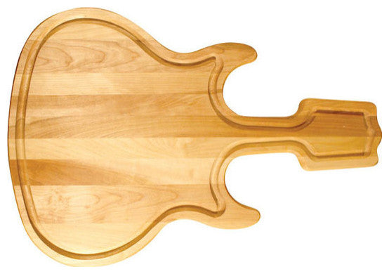 Guitar Shaped Cutting Board - Pot Racks Plus