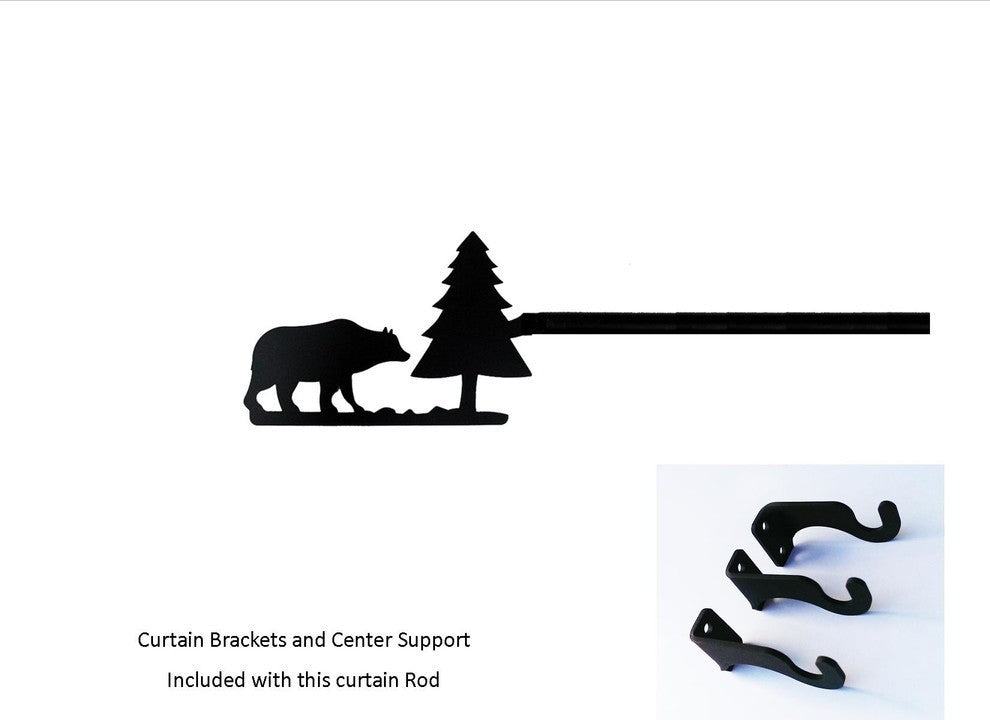 Bear/Pine Curtain Rod, Extra Large - Pot Racks Plus