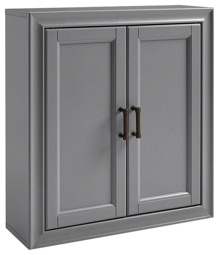 Tara Wall Cabinet, Gray - Pot Racks Plus