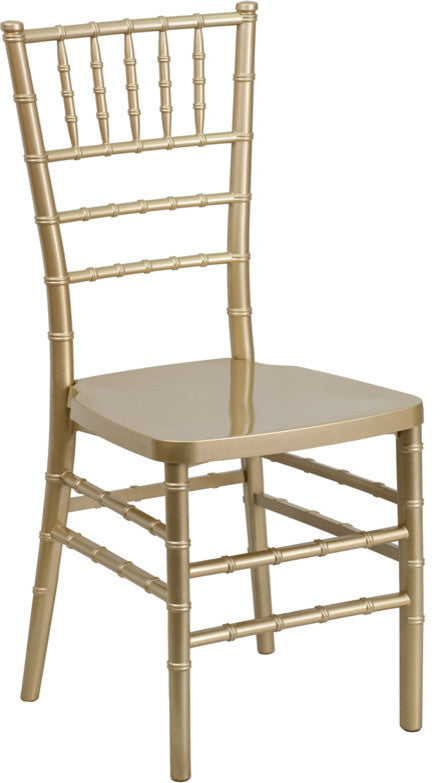 HERCULES PREMIUM Series Gold Resin Stacking Chiavari Chair
