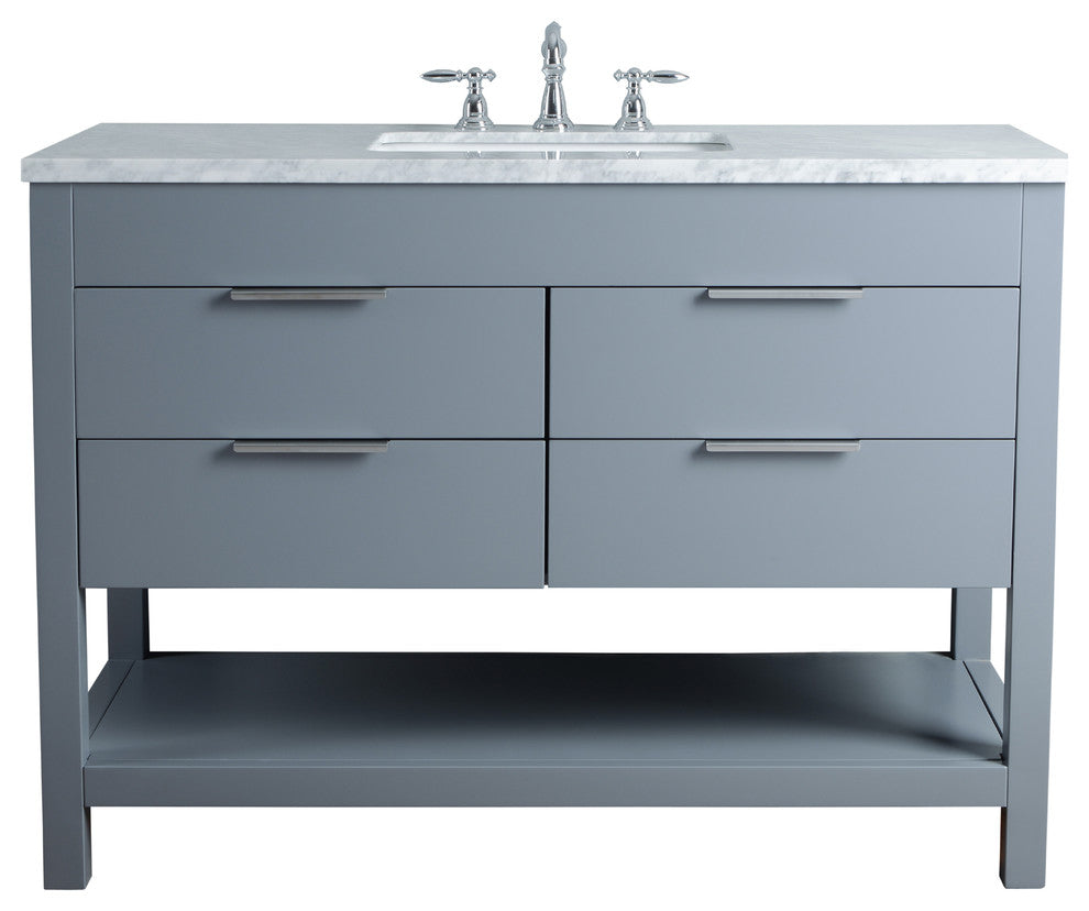 "Rochester 60"" Gray Double Sink Bathroom Vanity - Pot Racks Plus"