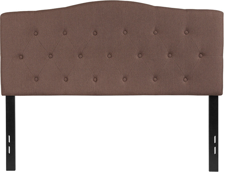 Cambridge Tufted Upholstered Full Size Headboard in Camel Fabric