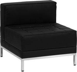 HERCULES Imagination Series Contemporary Black LeatherSoft Middle Chair