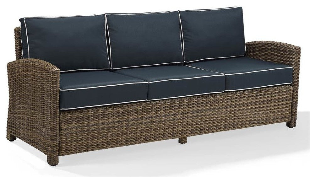 Bradenton Sofa With Cushions, Navy - Pot Racks Plus