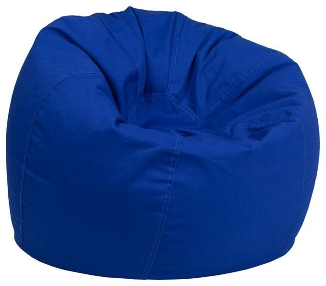 Flash Furniture   Small Solid Royal Blue Bean Bag Chair for Kids and Teens - Pot Racks Plus