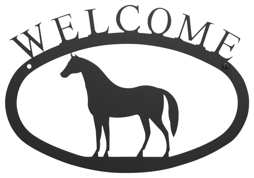Welcome Sign, Small, Horse