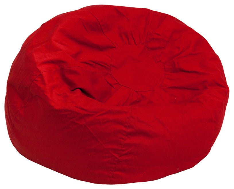 Flash Furniture   Oversized Solid Red Bean Bag Chair for Kids and Adults - Pot Racks Plus