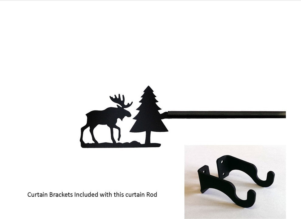 Moose/Pine Curtain Rod, Small - Pot Racks Plus
