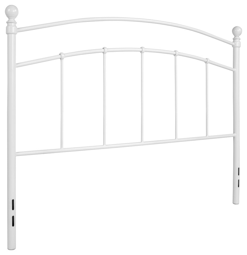 Woodstock Decorative White Metal Queen Size Headboard