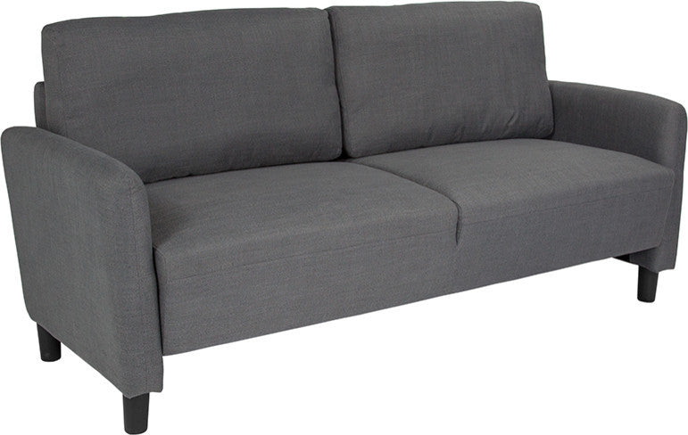 Candler Park Upholstered Sofa in Dark Gray Fabric