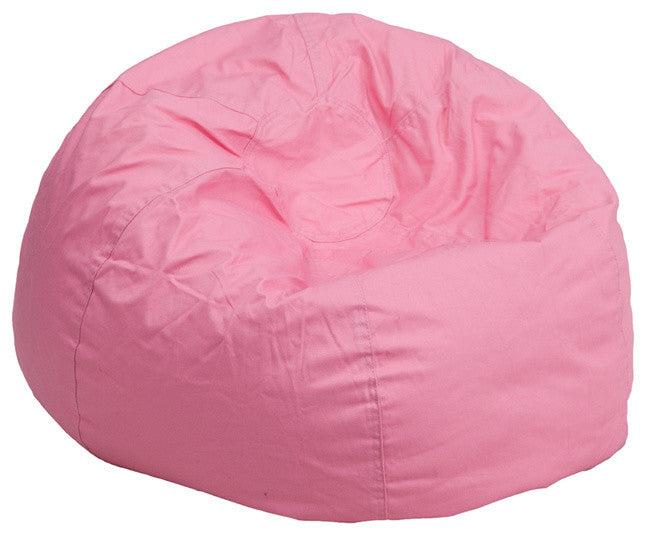 Flash Furniture   Small Solid Light Pink Bean Bag Chair for Kids and Teens - Pot Racks Plus
