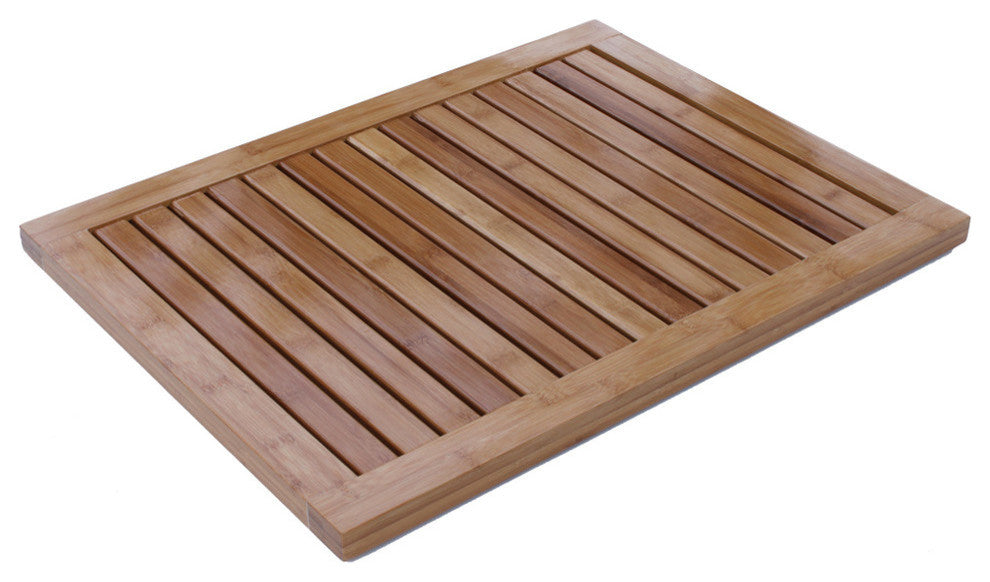 Bamboo Floor and Shower Mat - Pot Racks Plus