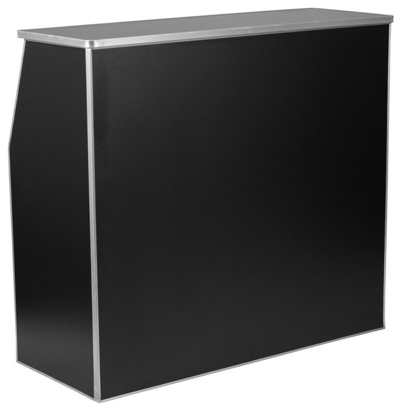 4' Black Laminate Foldable Bar