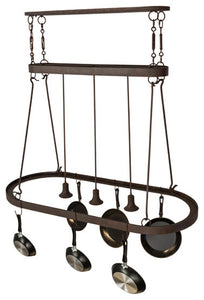 "55""L Harmony 3 Light Pot Rack - Pot Racks Plus"