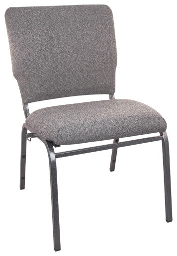 Advantage Charcoal Gray Multipurpose Church Chairs - 18.5 in. Wide