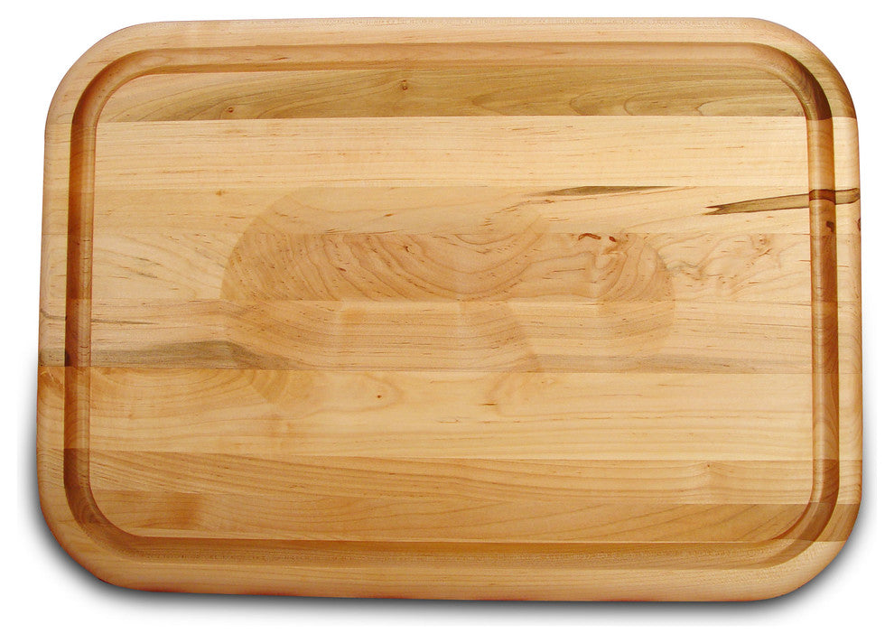 "Versatile Meat Holding Wedge Cutting Board With Trench, 20"" - Pot Racks Plus"