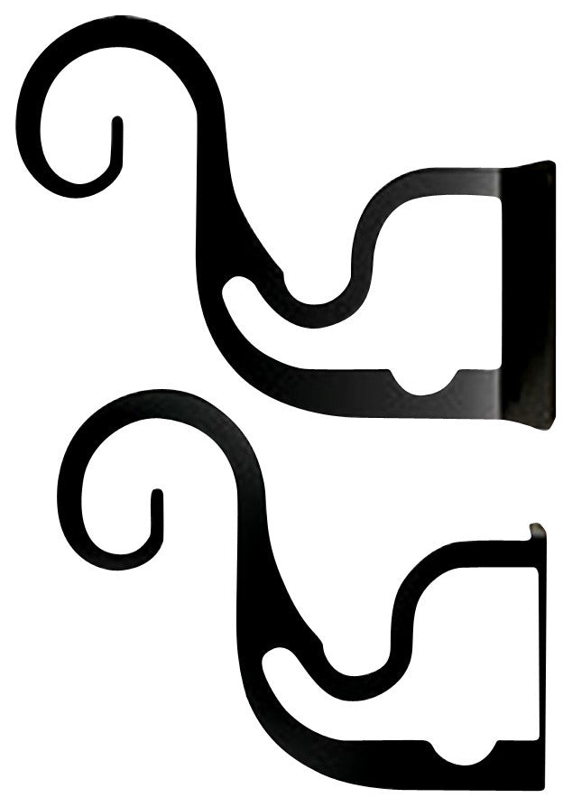 Curtain Brackets For Two or Three 1/2 Inch Rods
