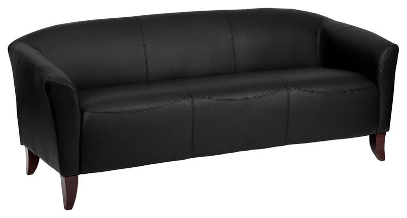 Flash Furniture   HERCULES Imperial Series Black LeatherSoft Sofa - Pot Racks Plus