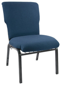 Advantage Navy Discount Church Chair - 21 in. Wide