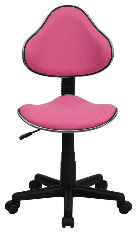 Pink Fabric Swivel Ergonomic Task Office Chair