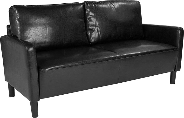 Washington Park Upholstered Sofa in Black LeatherSoft