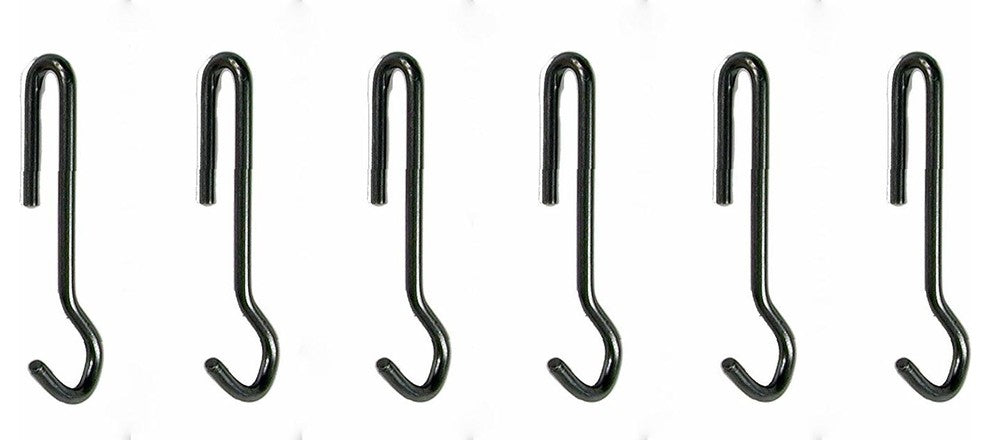 6 Angled Pot Hook, Hammered Steel - Pot Racks Plus