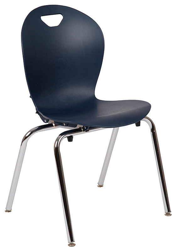 Advantage Titan Navy Student Stack School Chair - 18-inch