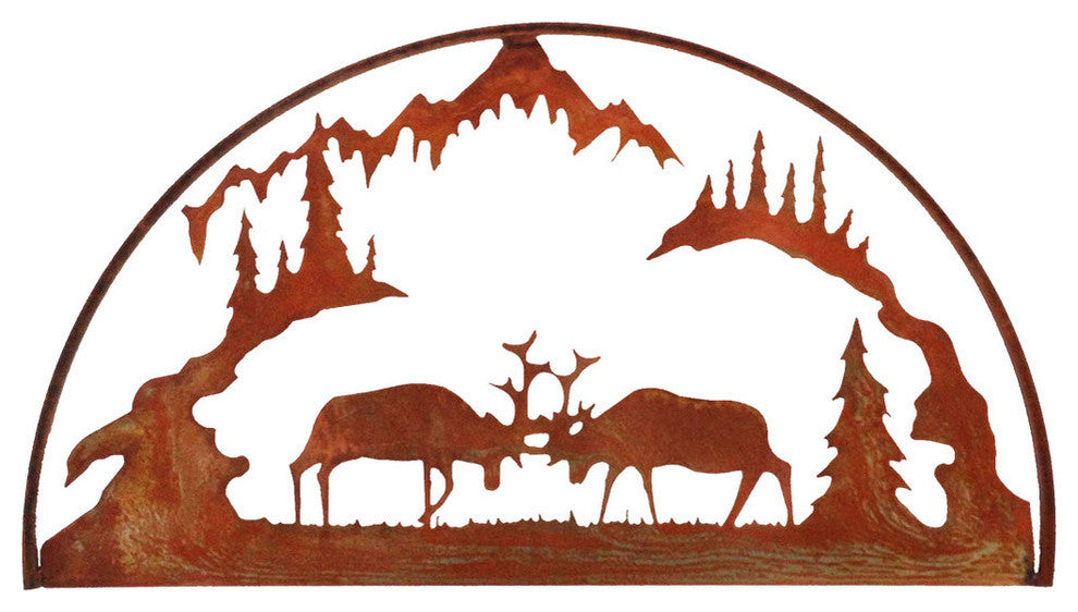 Fighting Elk Hoop-Rust Patina - Pot Racks Plus