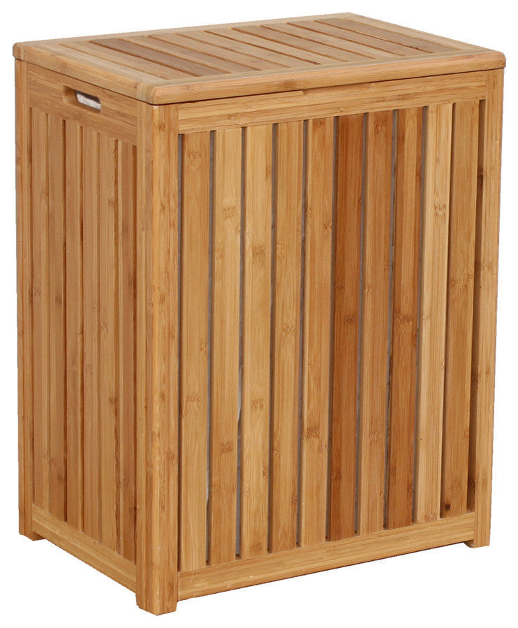 Spa-Style Bamboo Laundry Hamper - Pot Racks Plus