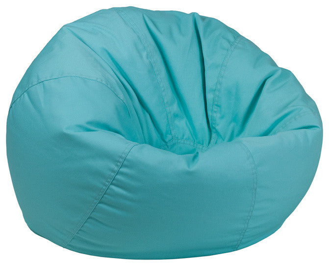 Flash Furniture   Small Solid Mint Green Bean Bag Chair for Kids and Teens - Pot Racks Plus