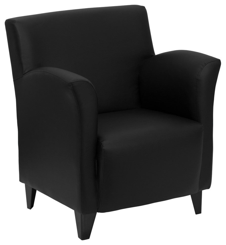 HERCULES Roman Series Black LeatherSoft Lounge Chair