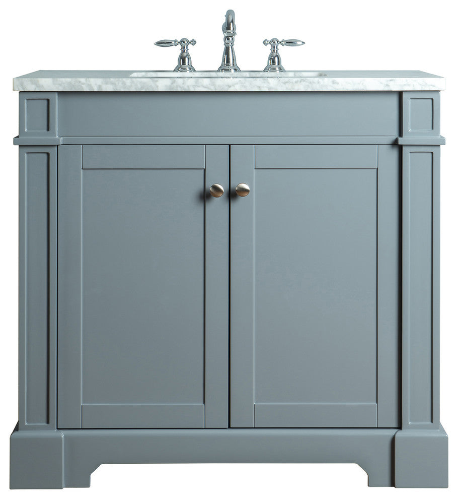 "Seine 48"" Gray Single Sink Bathroom Vanity - Pot Racks Plus"