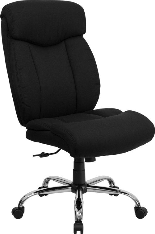 HERCULES Series Big & Tall 400 lb. Rated Black Fabric Executive Ergonomic Office Chair and Chrome Base