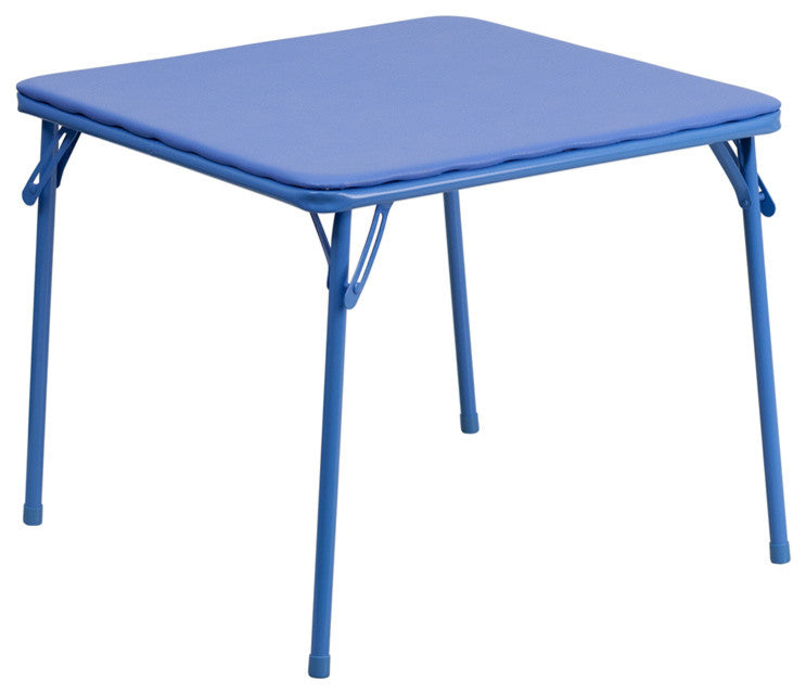 Flash Furniture   Kids Blue Folding Table - Pot Racks Plus