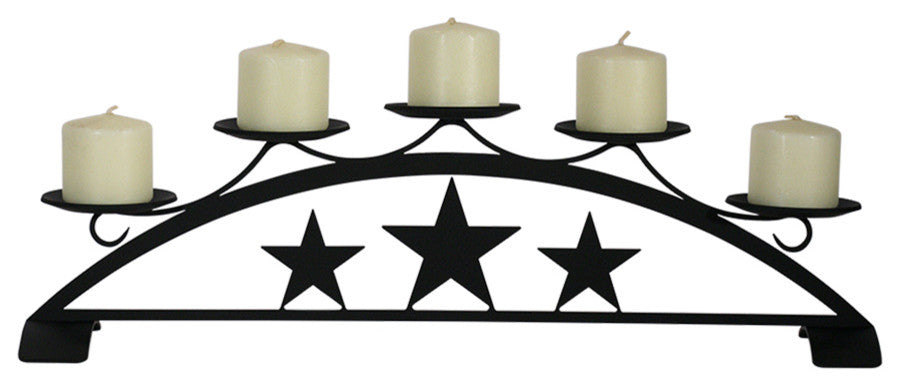 Star, Table Top Pillar Candle Holder