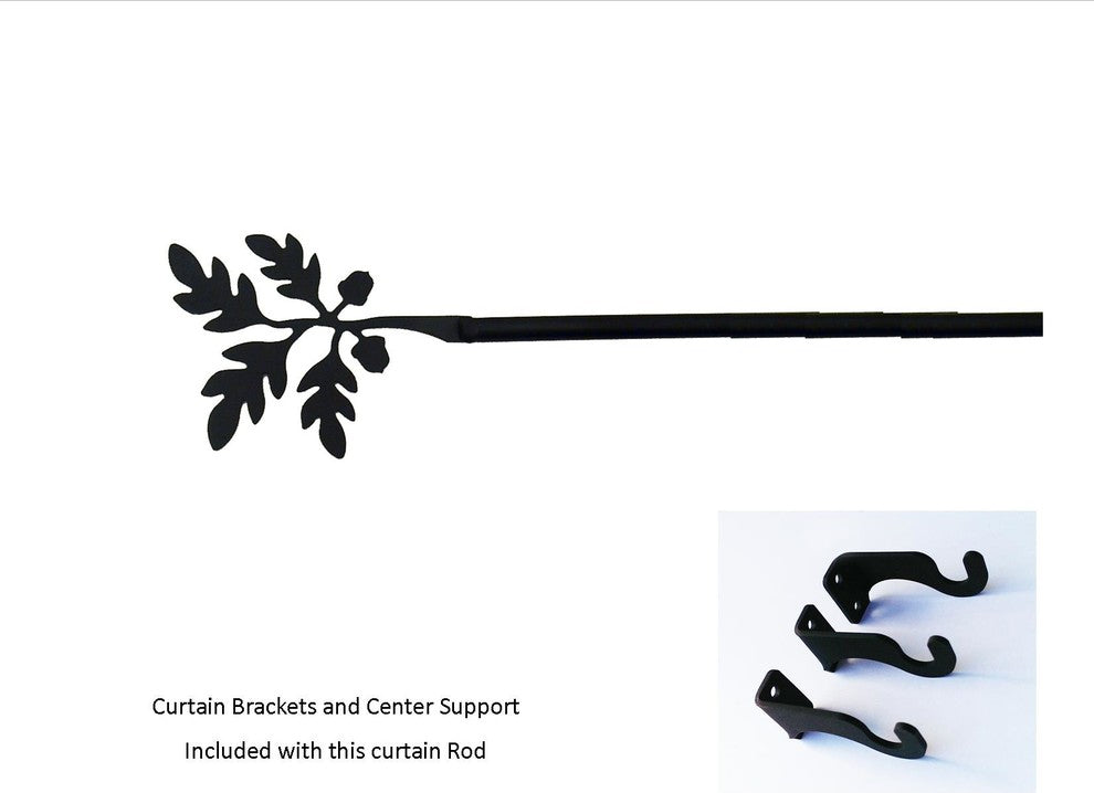Acorn Curtain Rod, Extra Large - Pot Racks Plus